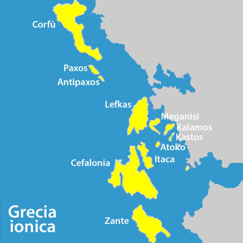 Mappa Grecia Ionica