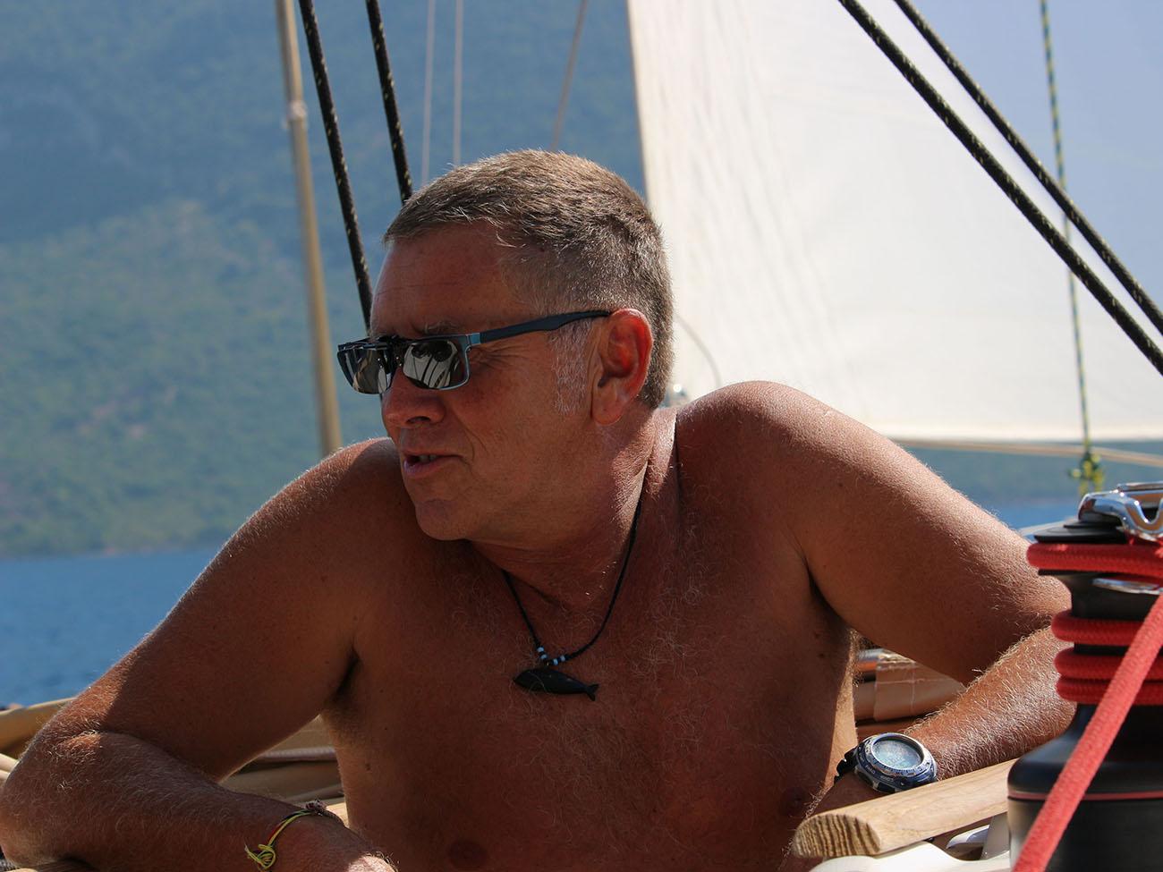 Lo skipper Tommaso Massari